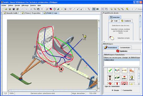 Interface du logiciel Swhift